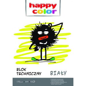Happy Color Blok techniczny Biały A4/10K 1szt. (1)