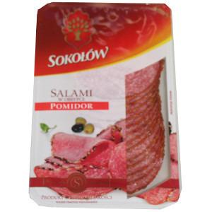 SOKOŁÓW Salami w obsybce pomidorowowej w plastrach (1)