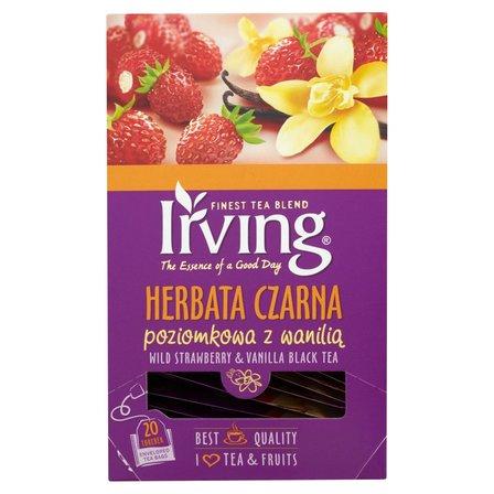 Irving Herbata czarna poziomkowa z wanilią 30g (20 tb) (2)