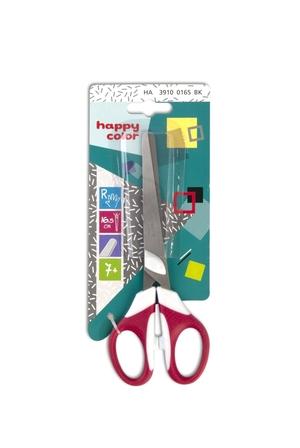 Nożyczki dla dzieci leworęcznych, 16.5 cm, uchwyt dwukolorowy, blister, Happy Color (1)