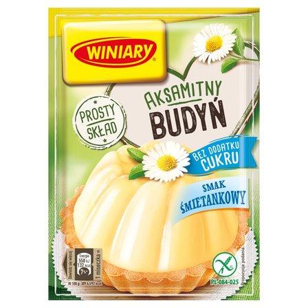 Winiary Budyń bez dodatku cukru smak śmietankowy 35g (2)
