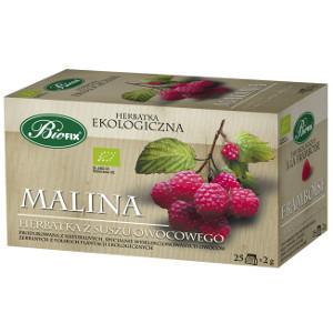 Biofix Malina Ekologiczna herbatka z suszu owocowego 50g (25 tb) (1)
