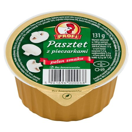 Profi Pasztet z pieczarkami 131g (1)