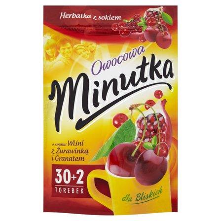 Minutka Owocowa Herbatka owocowa o smaku wiśni z żurawinką i granatem 64g (32 tb) (2)