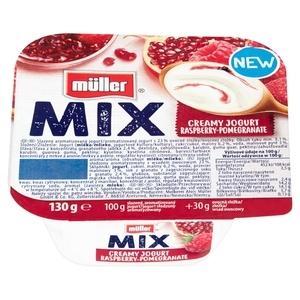 MÜLLER Mix Jogurt z wsadem owocowym 130g (1)