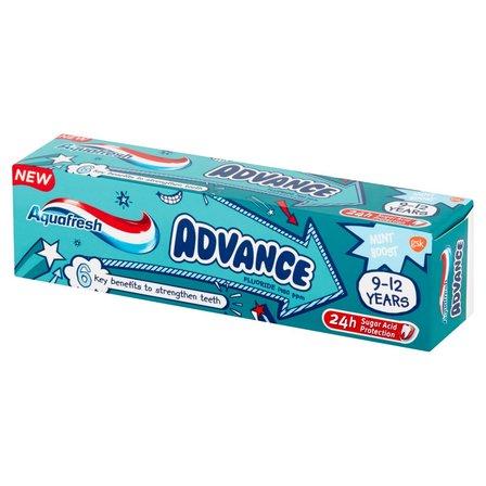 AQUAFRESH Advance Pasta do zębów z fluorkiem dla dzieci 9-12 lat (1)