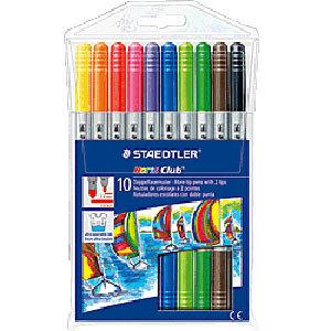 Staedtler Noris Club Flamastry dwustronne kolorowe 10 kolorów 1op. (1)