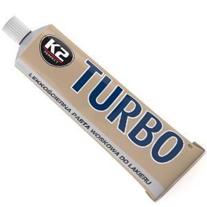 K2 Turbo Lekkościerna pasta woskowa do lakieru 120g (2)