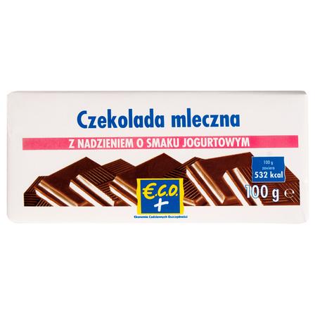 €.C.O.+ czekolada mleczna z nadzieniem o smaku jogurtowym 100g (1)