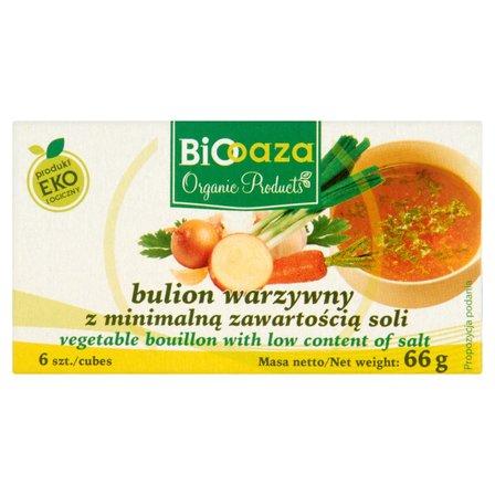 Biooaza Eko Bulion warzywny z minimalną zawartością soli 66g (6 sztuk) (1)
