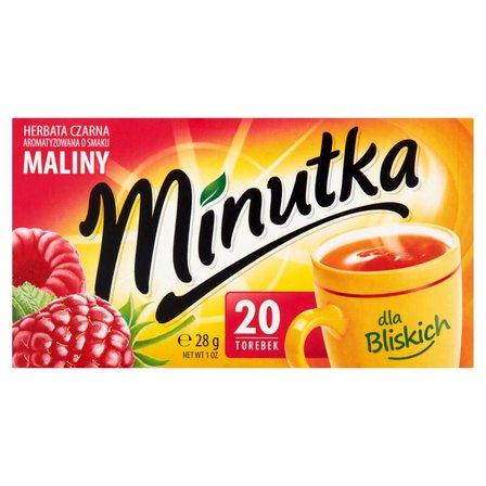 Minutka Herbata czarna aromatyzowana o smaku maliny 28g (20 tb) (2)