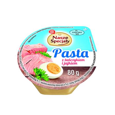 Wiodąca Marka Pasta z jajkiem i tuńczykiem 80g (1)