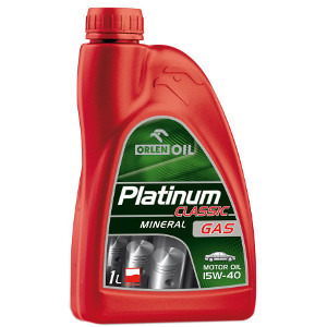 Orlen Oil Olej silnikowy mineralny I5W-40 Platinum Classic Gas 1l (1)
