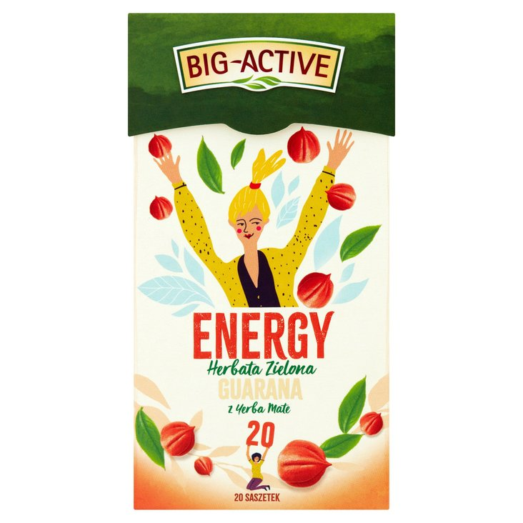 Big-Active Energy Herbata zielona guarana z yerba mate 30g (20 tb) (2)