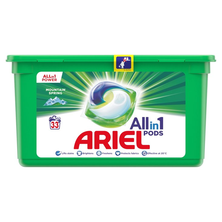 Ariel Allin1 Pods Mountain Spring Kapsułki do prania 900g (33 prań) (1)