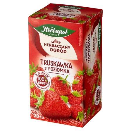 Herbapol Herbaciany Ogród Herbatka owocowo-ziołowa truskawka z poziomką 50g (20 tb) (1)