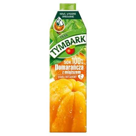 Tymbark Sok 100% pomarańcza z miąższem 1 l (2)