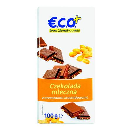€.C.O.+ czekolada mleczna z orzechami arachidowymi  100g (1)