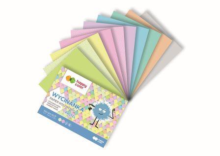 Blok Wycinanka Pastel, A5 10 ark, 100 g, Happy Color (1)