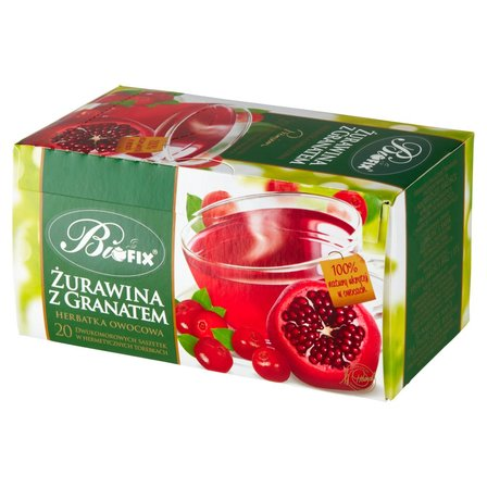 Biofix Premium żurawina z granatem Herbatka owocowa 40g (20 tb) (1)