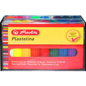 Herlitz Plastelina 16 kolorów w kasetce 1op. (1)
