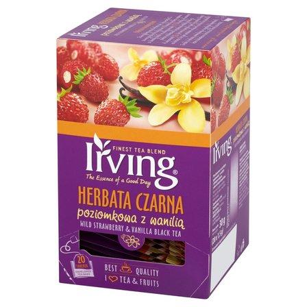 Irving Herbata czarna poziomkowa z wanilią 30g (20 tb) (1)
