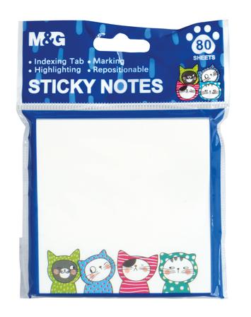 Karteczki samoprzylepne So Many Cats; 7,6x7,6cm, 80ark, MG (1)