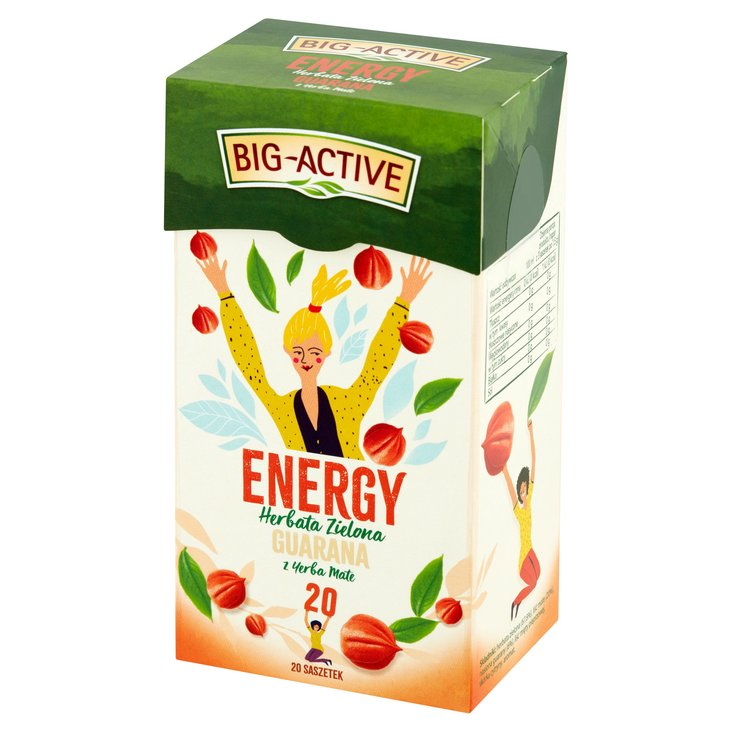 Big-Active Energy Herbata zielona guarana z yerba mate 30g (20 tb) (1)