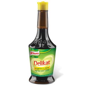 KNORR Delikat Przyprawa w płynie do zup sosów sałatek 860ml (1)
