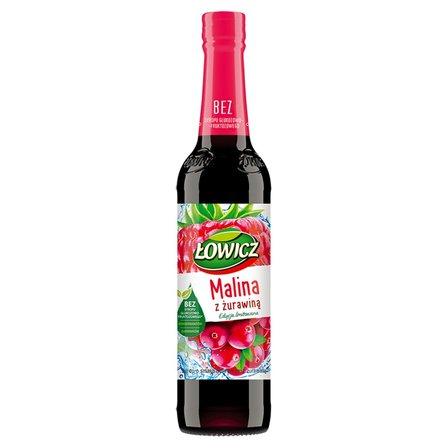Łowicz Syrop o smaku malinowym z żurawiną 400 ml (1)