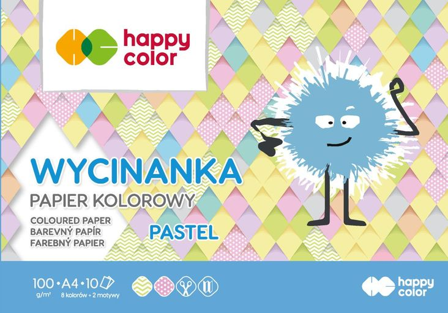 Blok Wycinanka Pastel, A4, 10 ark, 100 g, Happy Color (1)