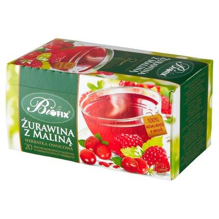 Biofix Premium żurawina z maliną Herbatka owocowa 40g (20 tb) (1)