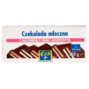 €.C.O.+ czekolada mleczna z nadzieniem o smaku jogurtowym 100g (2)