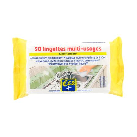 ECO+ Uniwersalne chusteczki do czyszczenia - cytrynowe (1)