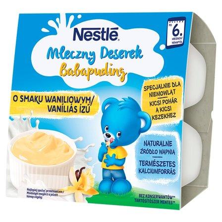 Nestlé Mleczny Deserek o smaku waniliowym dla niemowląt po 6. miesiącu 400g (4x100g) (1)