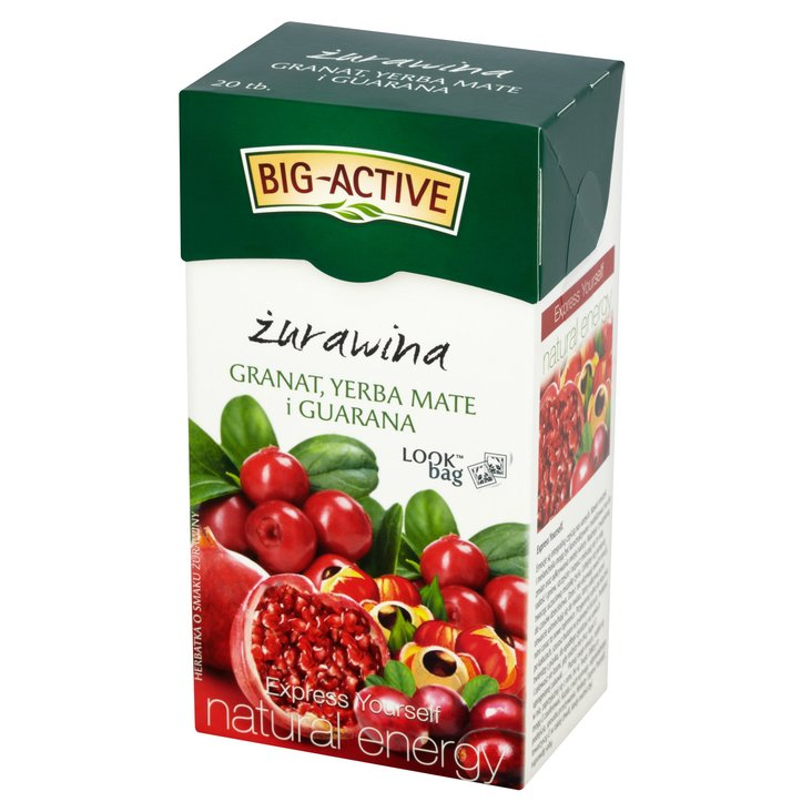 Big-Active Express Yourself żurawina granat yerba mate i guarana Herbatka 45g (20 tb) (1)