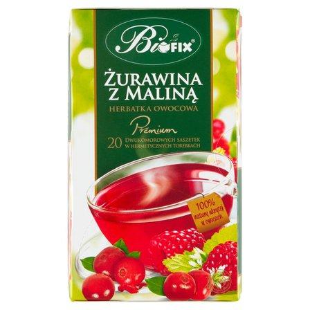 Biofix Premium żurawina z maliną Herbatka owocowa 40g (20 tb) (2)