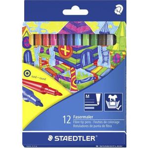 Staedtler Flamastry szkolne 12 kolorów 1op. (1)