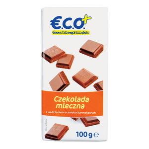 €.C.O.+ czekolada mleczna z nadzieniem o smaku  karmelowym 100g (2)