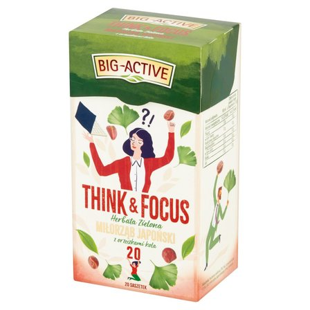 Big-Active Think & Focus Herbata zielona miłorząb japoński z orzeszkami kola 30g (20 tb) (1)