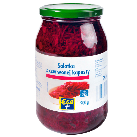 ECO+  Sałatka z czerwonej kapusty 900g (1)