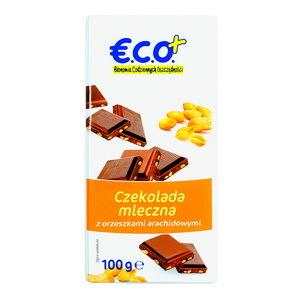 €.C.O.+ czekolada mleczna z orzechami arachidowymi  100g (2)