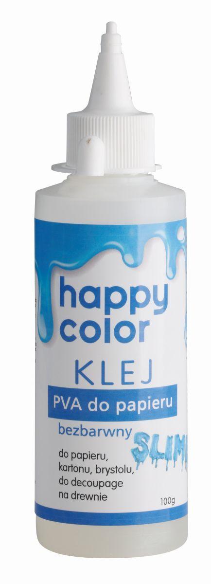 Klej do papieru PVA, butelka 100g, Happy Color (1)