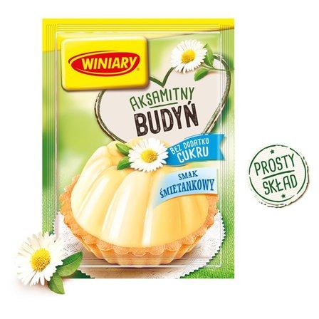 Winiary Budyń bez dodatku cukru smak śmietankowy 35g (1)