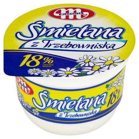 Mlekovita Śmietana z Trzebowniska 18% 250g (1)