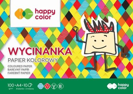 Blok Wycinanka, A4 10 ark, 100 g, Happy Color (1)