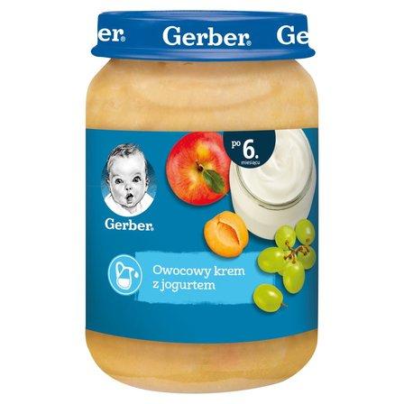 Gerber Owocowy krem z jogurtem dla niemowląt po 6. miesiącu 190g (1)