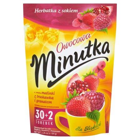 Minutka Owocowa o smaku malinki z truskawką i granatem Herbatka z sokiem 64g (32 tb) (1)