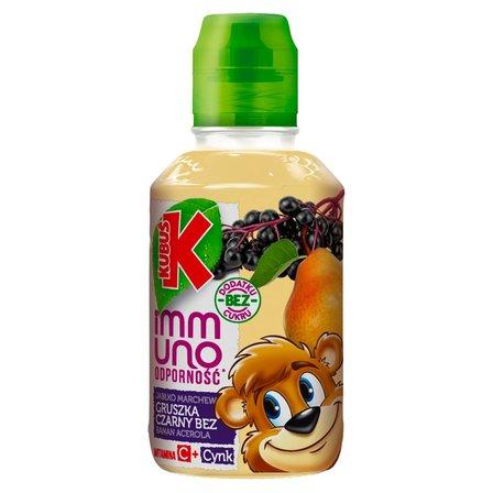 Kubuś Immuno Odporność Sok gruszka banan czarny bez 200 ml (1)