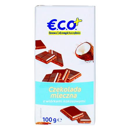 €.C.O.+ czekolada mleczna z wiórkami kokosowymi 100g (1)